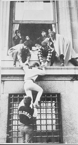 Protester Scaling a Building